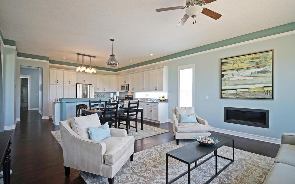 Living Area featured in the Pleasanton By Mayberry Homes in Lansing, MI