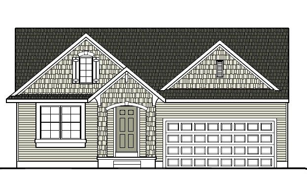Exterior featured in the Newcastle By Mayberry Homes in Flint, MI