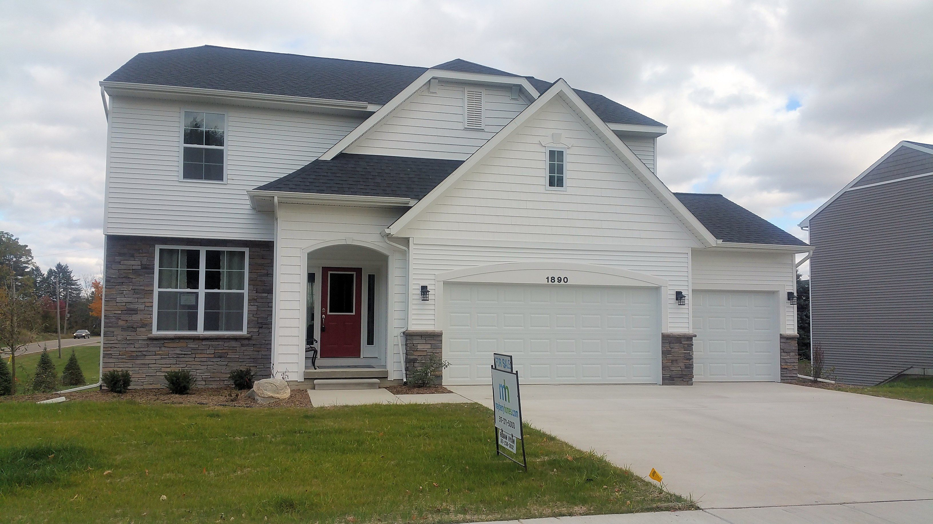 Exterior featured in the Nantucket By Mayberry Homes in Lansing, MI