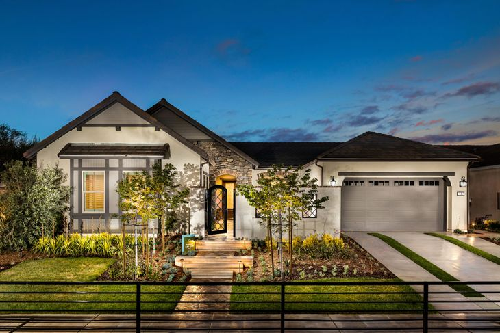 Residence Two Model Home Exterior:European Cottage Architecture