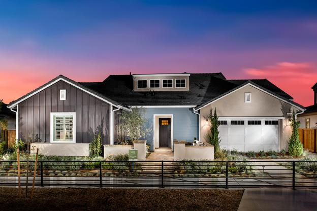 Exterior:Model Home Exterior - Farmhouse Architecture