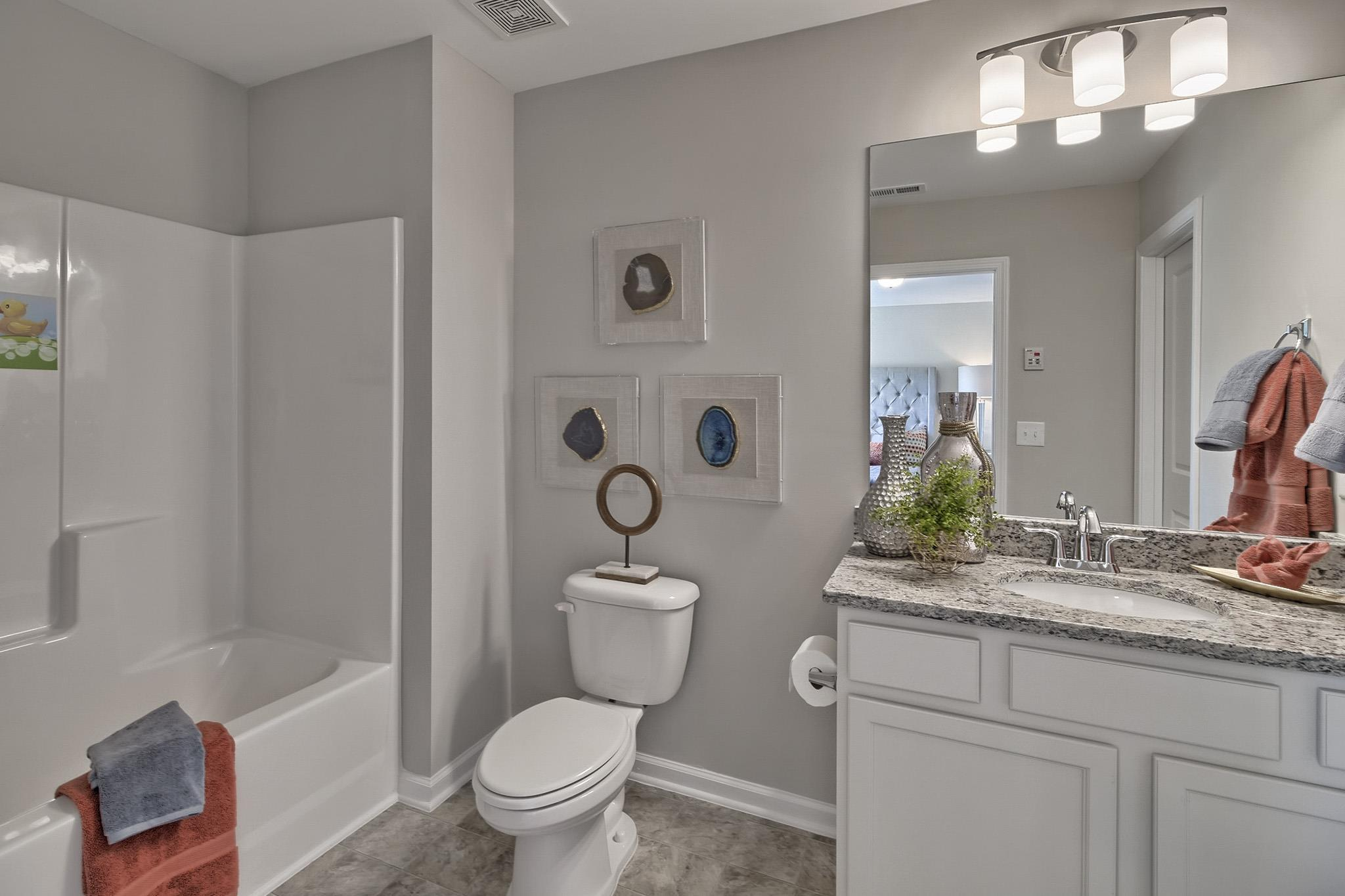 Bathroom featured in the Harbison Grove 3  By McGuinn Hybrid Homes in Columbia, SC