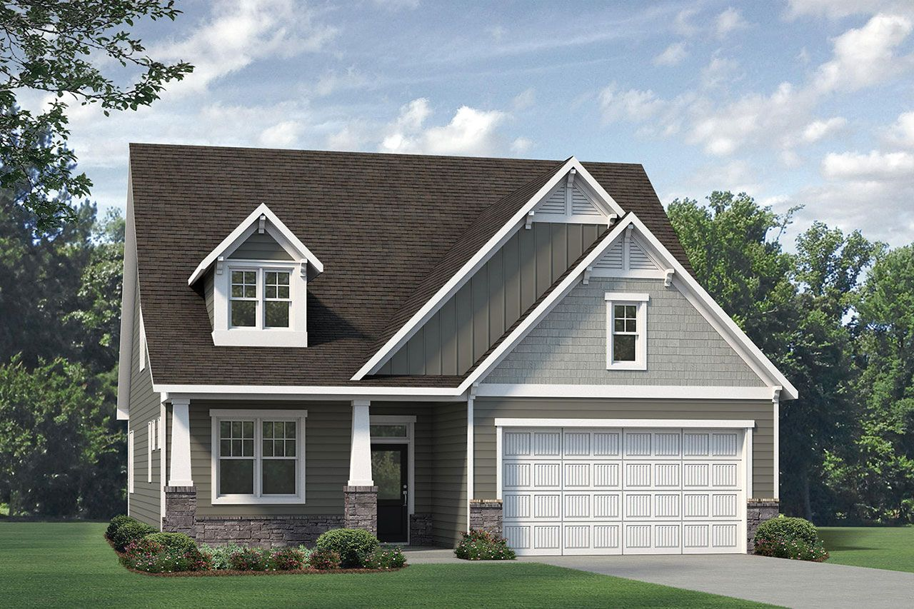 Exterior featured in the Winston 2020 Craftsman By McKee Homes in Fayetteville, NC