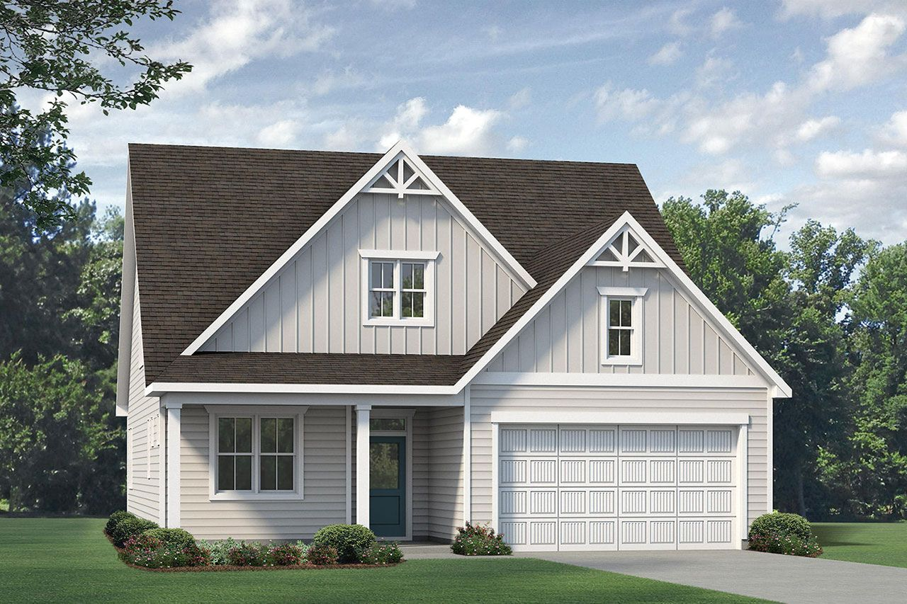 Exterior featured in the Winston 2020 Coastal By McKee Homes in Fayetteville, NC