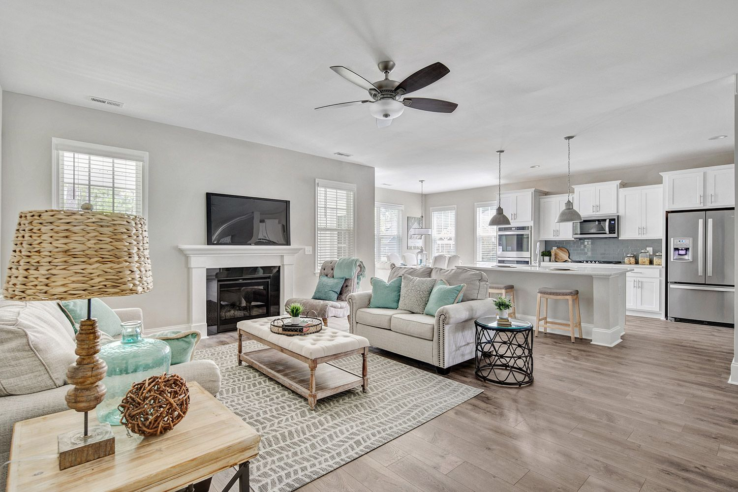 Living Area featured in the Nelson 2020 Craftsman By McKee Homes in Pinehurst-Southern Pines, NC