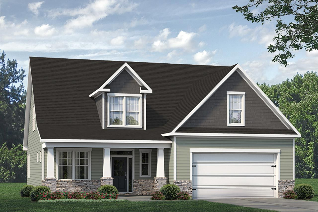 Exterior featured in the Biltmore II Classic By McKee Homes in Fayetteville, NC