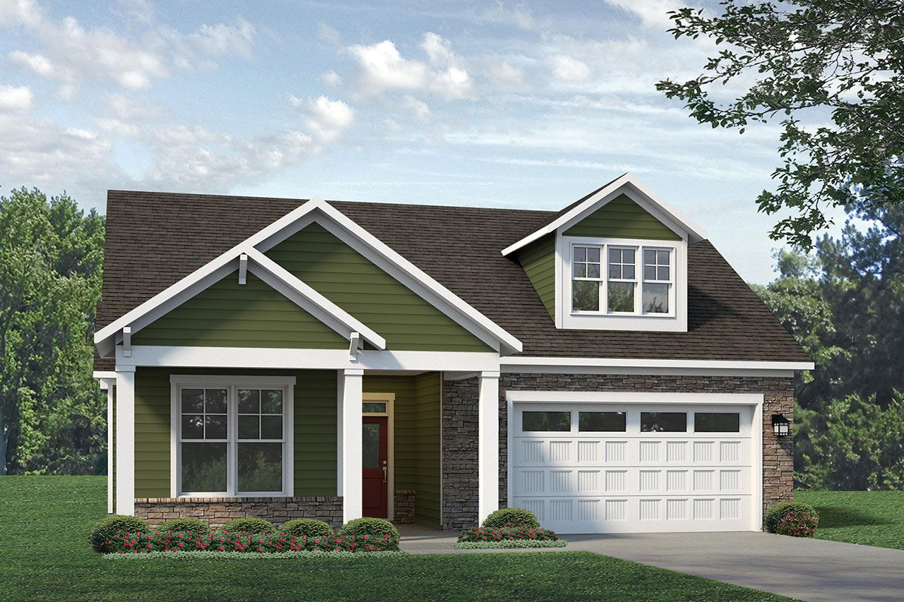 Exterior featured in the Portico 2020 Bungalow By McKee Homes in Fayetteville, NC