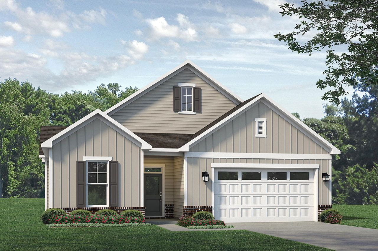 Exterior featured in the Portico 2020 Classic By McKee Homes in Fayetteville, NC