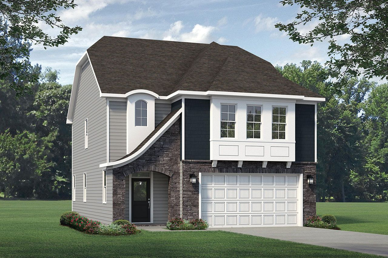 Exterior featured in the Sullivan 2020 European By McKee Homes in Fayetteville, NC