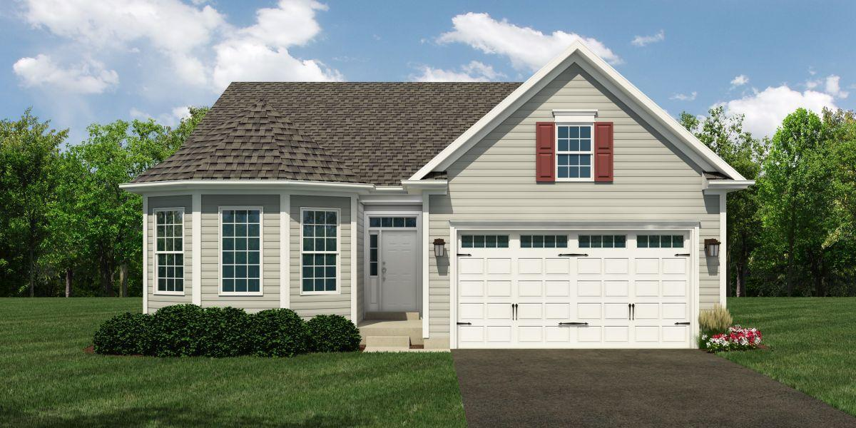 Exterior featured in The Doral By McKee Builders in Dover, DE