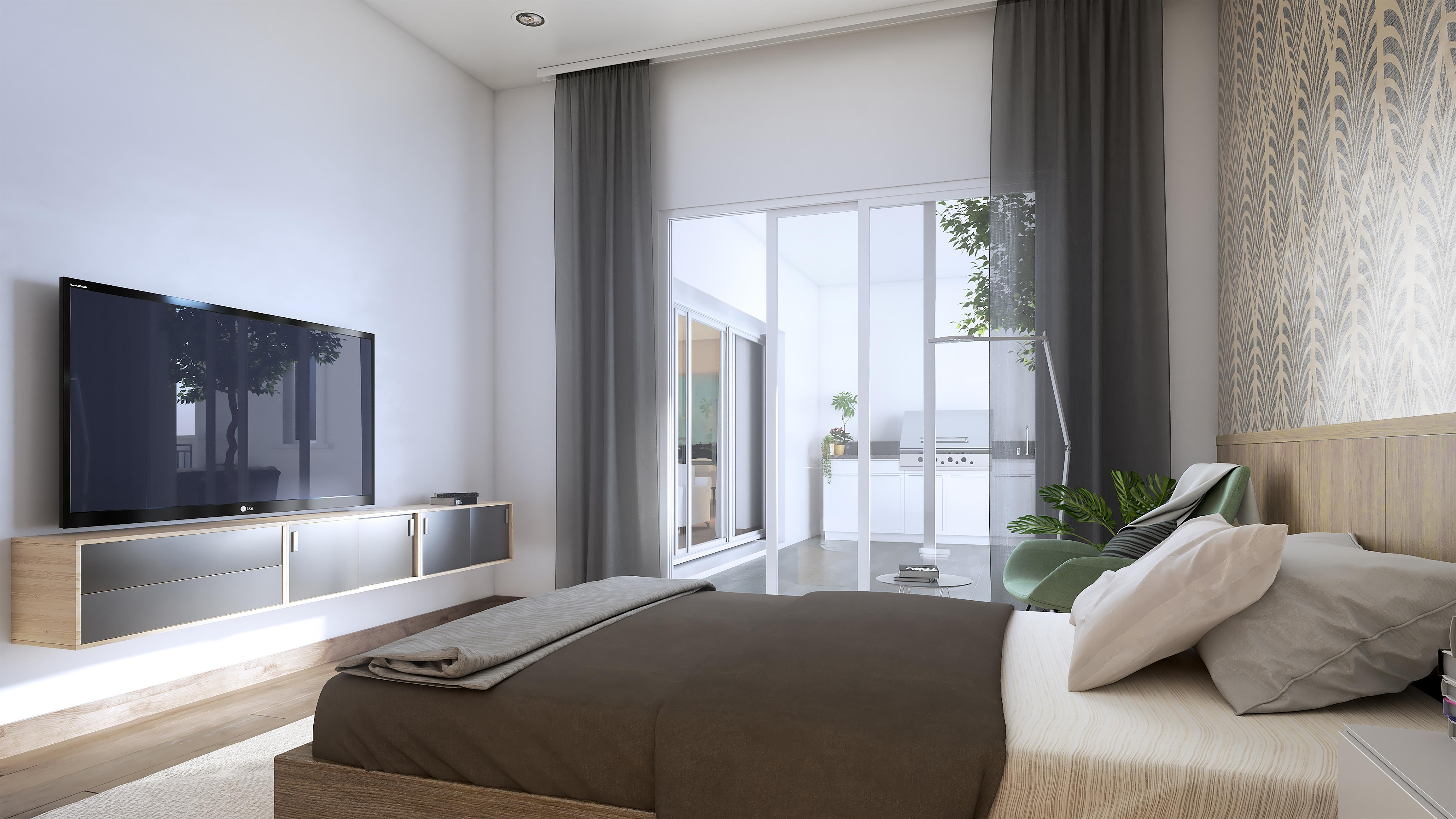Bedroom featured in the Residence 4 By McKellar McGowan in San Diego, CA