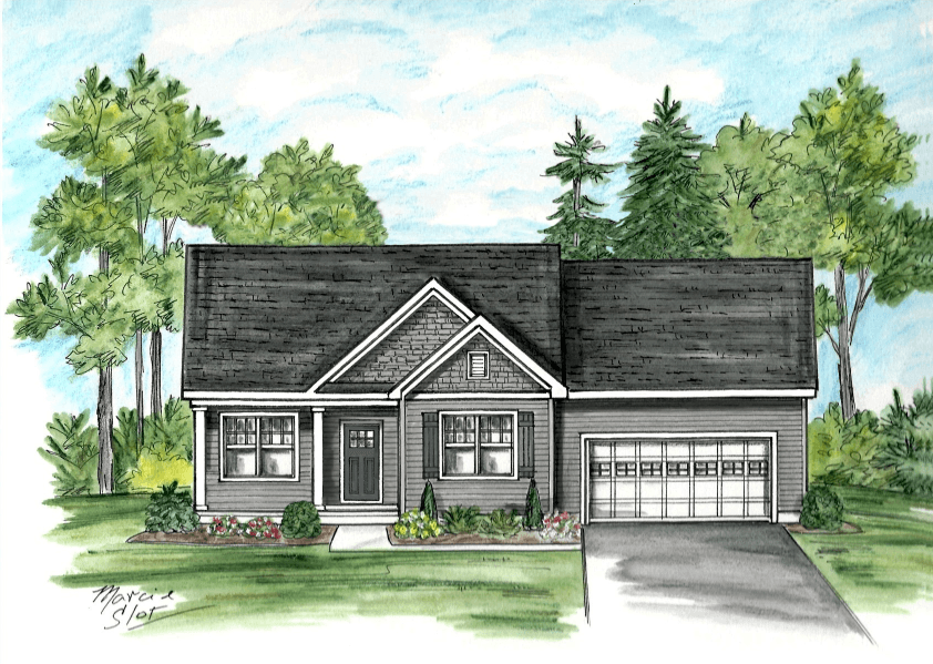 Exterior featured in the Aspen By McPadden Builders in Albany-Saratoga, NY