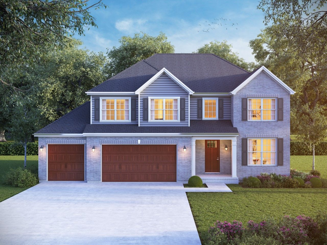 Exterior featured in The Sycamore By Meadowbrook Builders in Chicago, IL