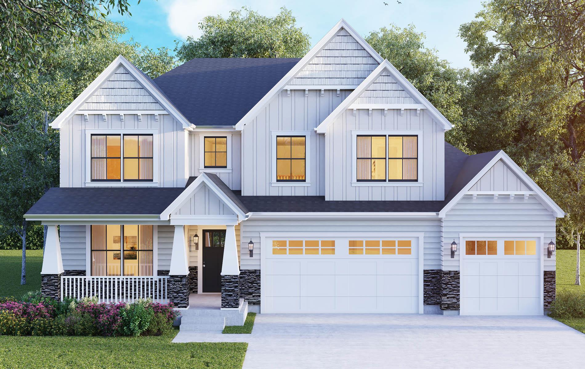Exterior featured in The Sierra By Meadowbrook Builders in Chicago, IL
