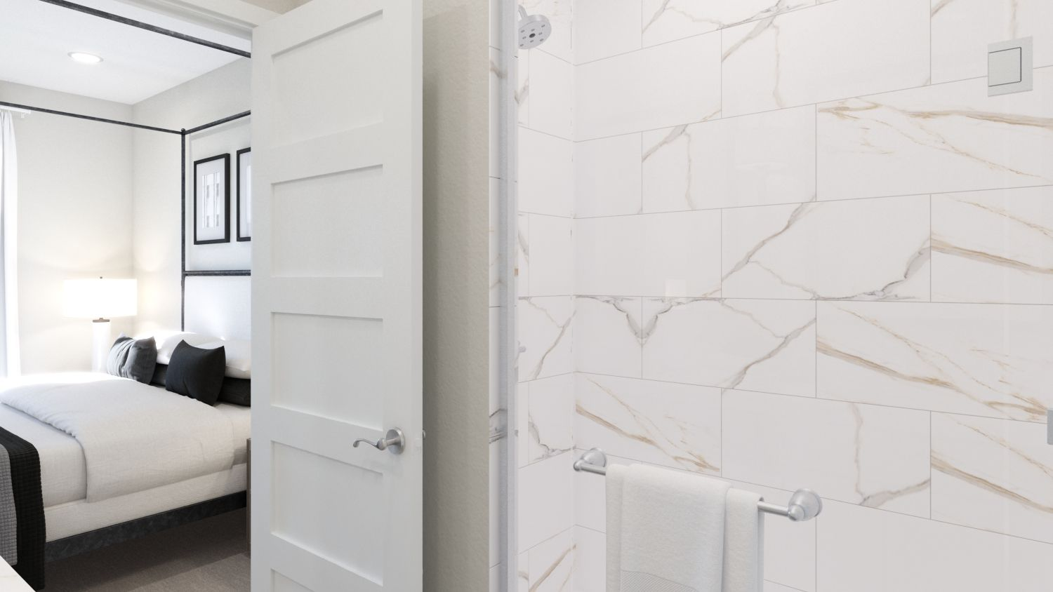 Bathroom featured in the Plan 3A By Melia in Orange County, CA