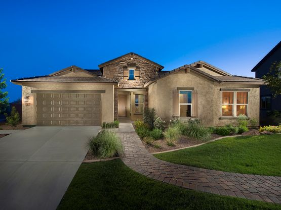 The Shasta is one of our most popular single-story homes.