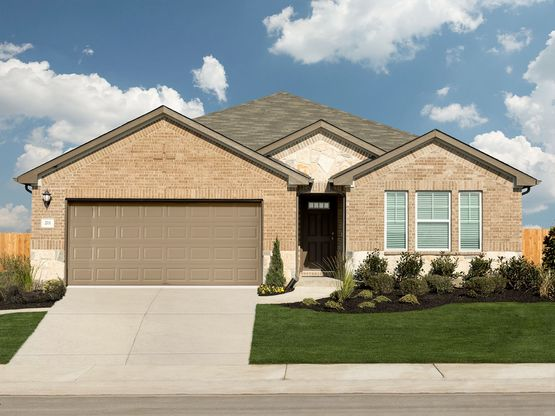 The gorgeous Henderson plan is a spacious single-story home.