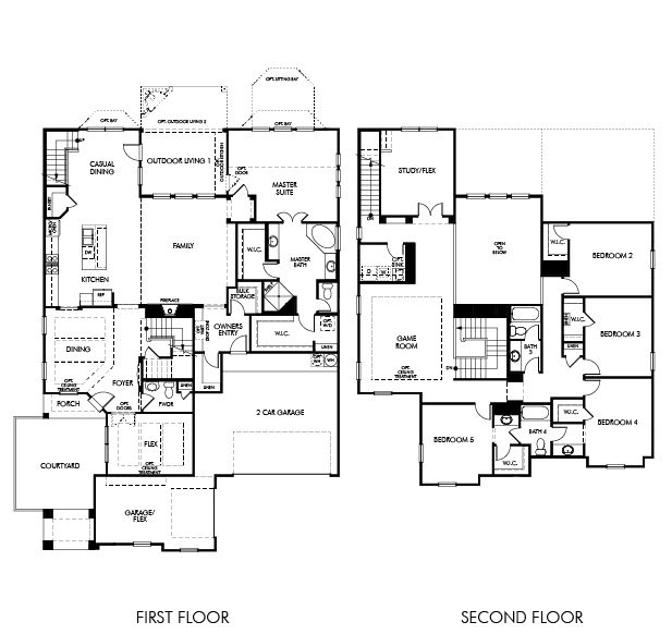 Meritage Homes Floor Plans | Plan Frisco Texas 75034 Plan At Kingswood Village By Meritage