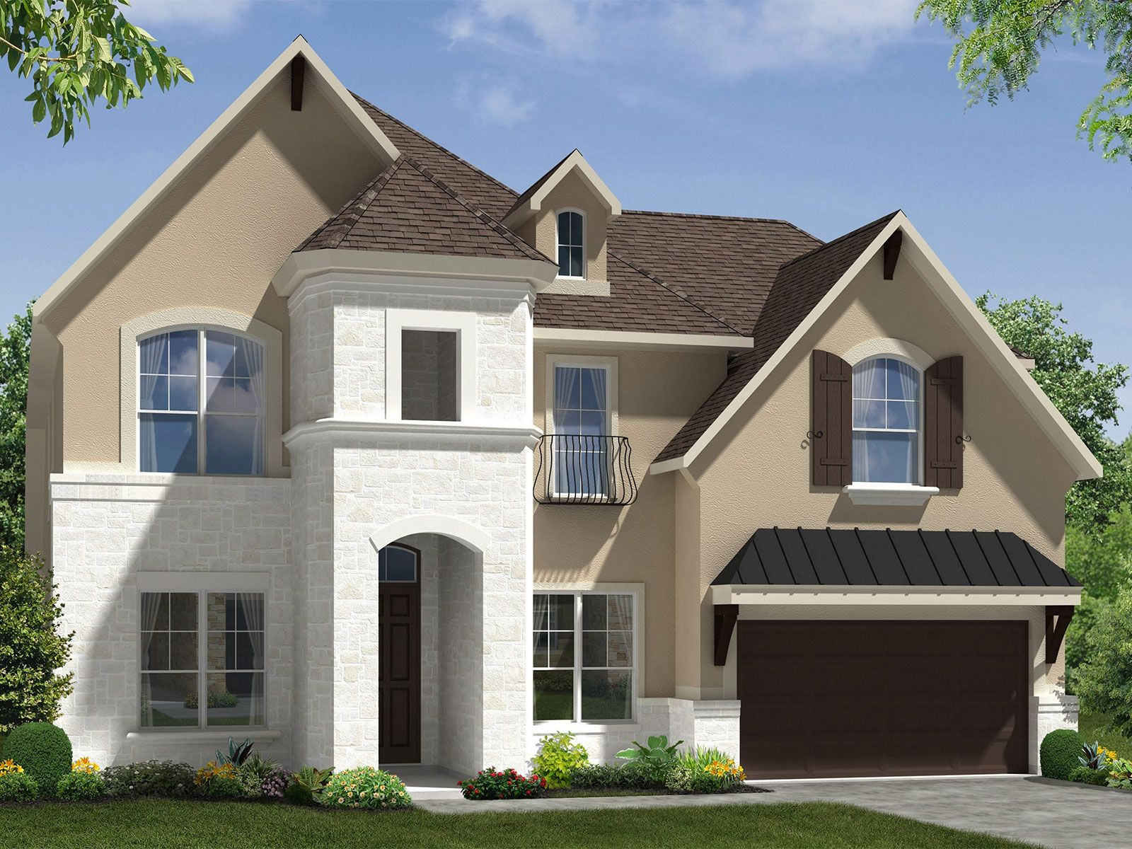 Exterior featured in The Redbud (5362) By Meritage Homes in Houston, TX