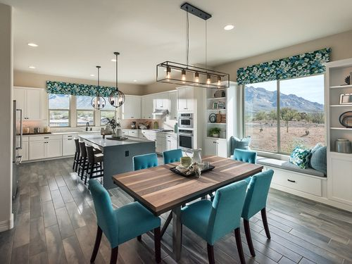 Kitchen-in-Hummingbird-at-Sanctuary at Silverhawke-in-Oro Valley