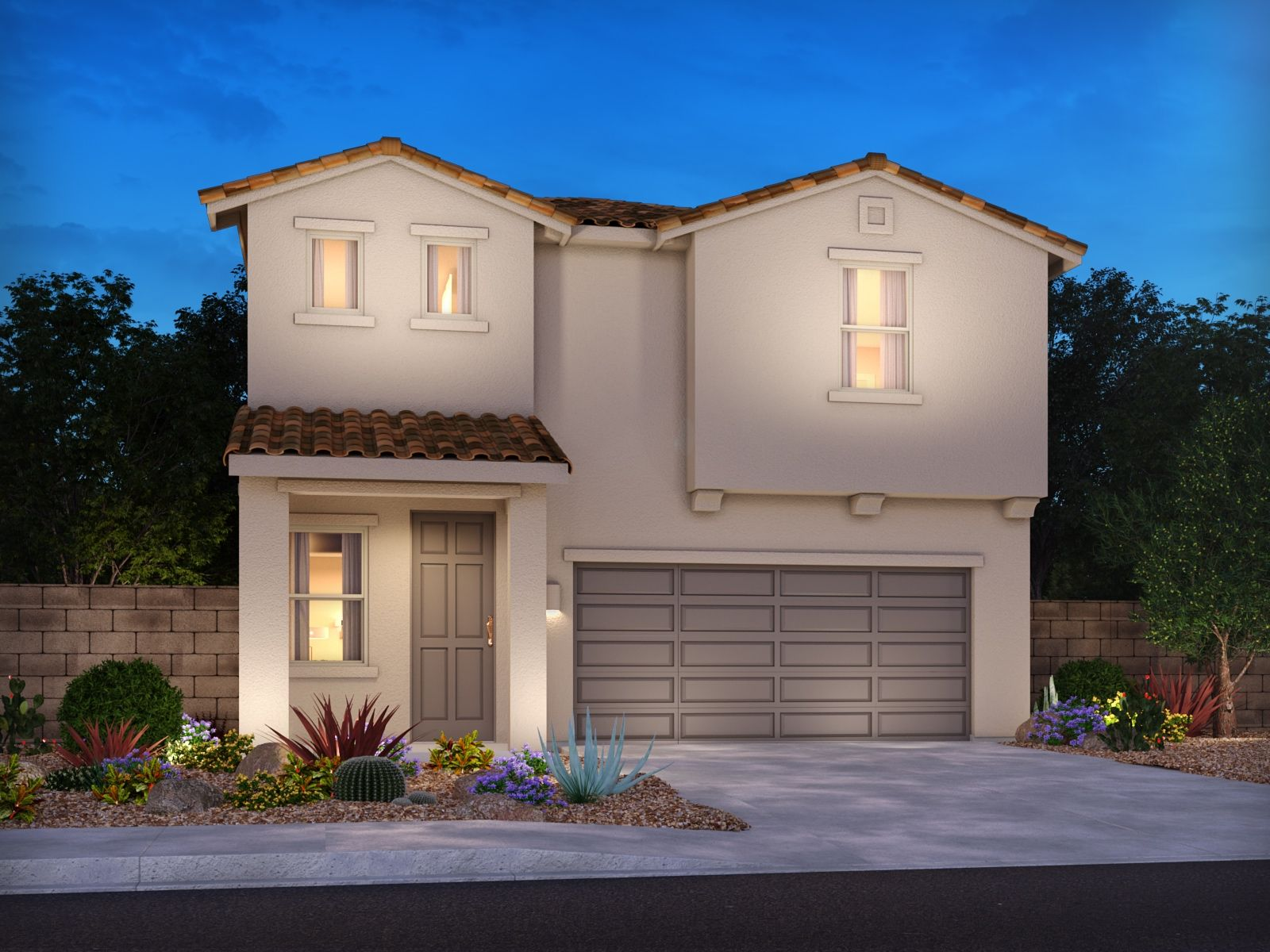 Exterior featured in the Vivaldi By Meritage Homes in Tucson, AZ