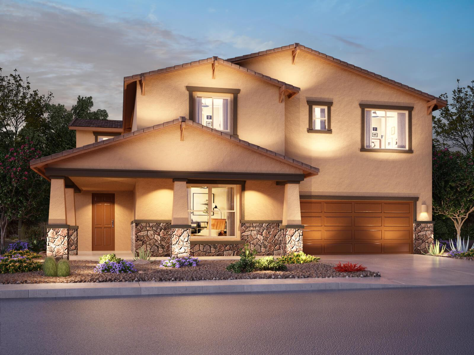 Exterior featured in the Rincon By Meritage Homes in Tucson, AZ
