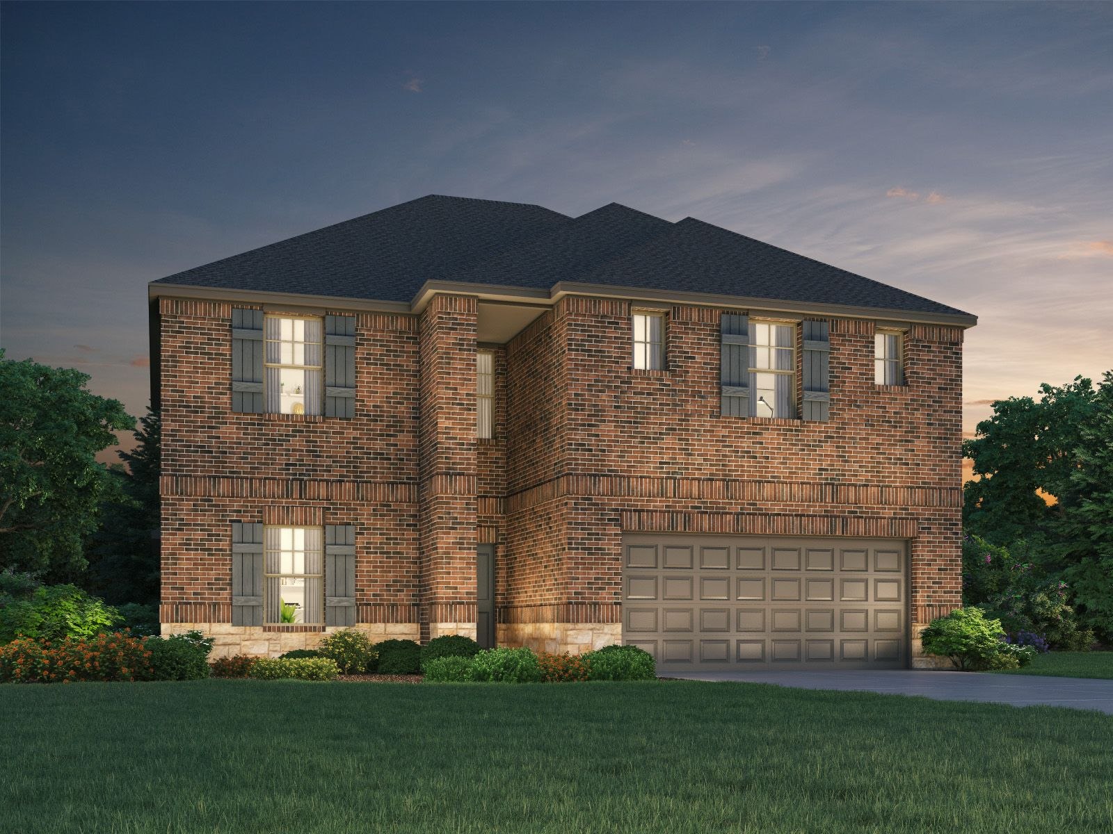 Exterior featured in The Kendall (C485) By Meritage Homes in Houston, TX