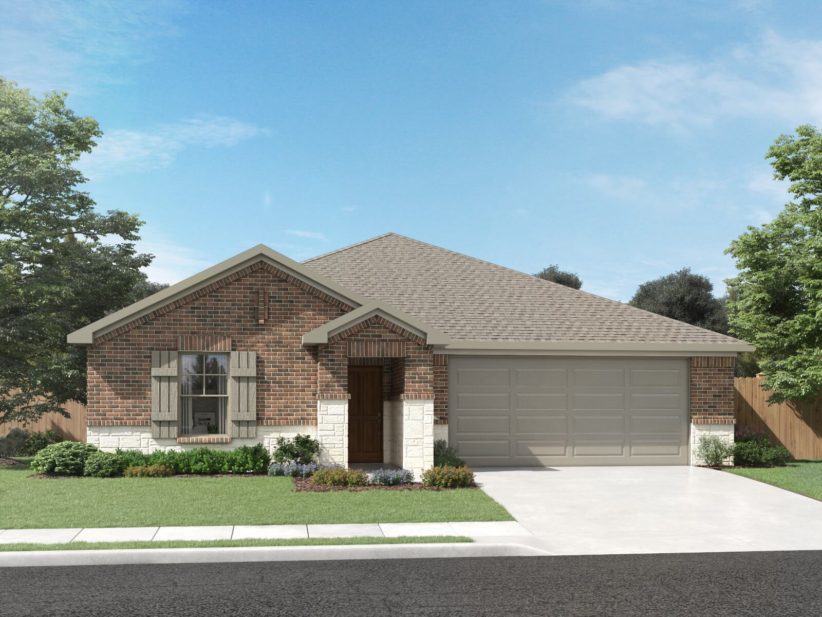 Exterior featured in The Greenville (C400) By Meritage Homes in San Antonio, TX