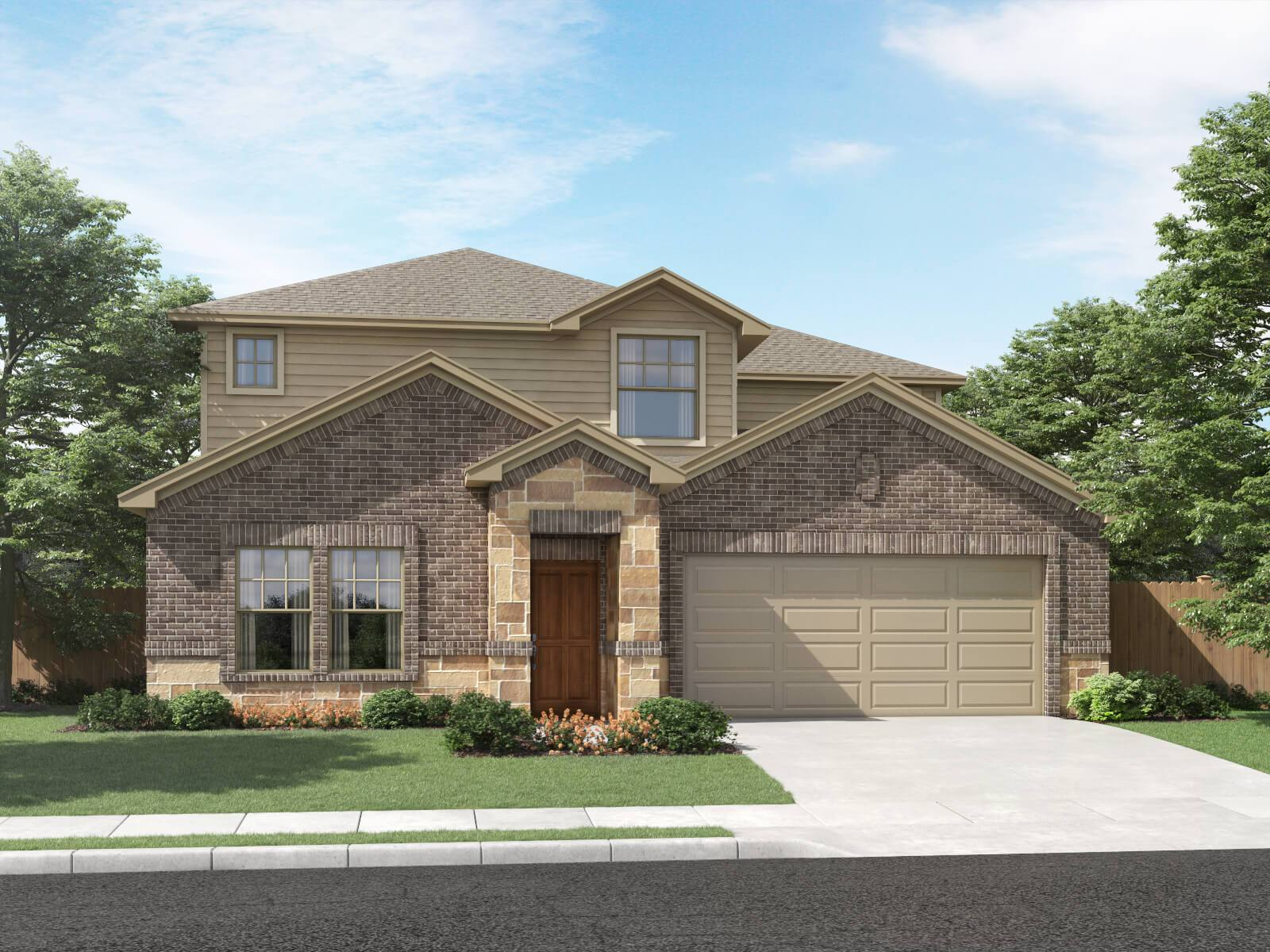 Exterior featured in The Pearl (C452) By Meritage Homes in San Antonio, TX