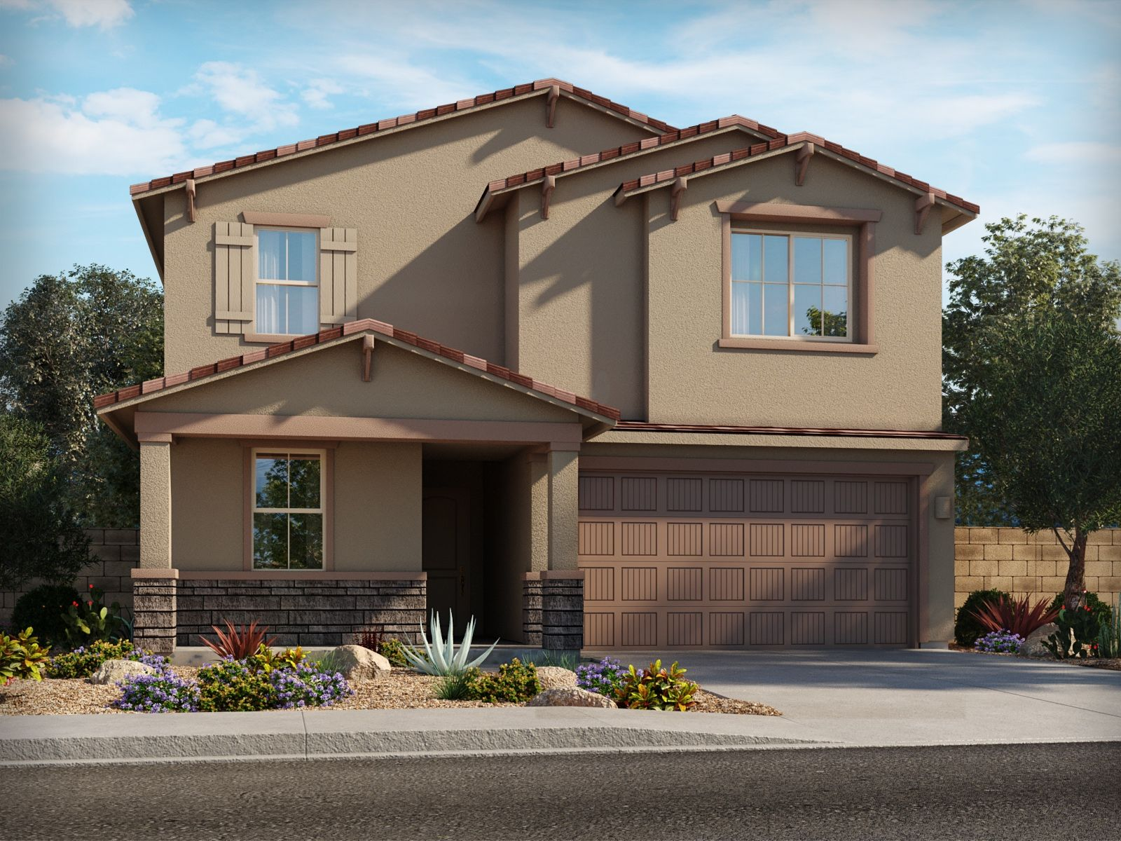 Exterior featured in the Paradise By Meritage Homes in Tucson, AZ
