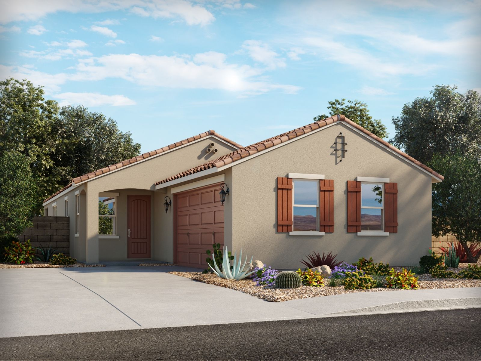 Exterior featured in the Maxwell By Meritage Homes in Phoenix-Mesa, AZ