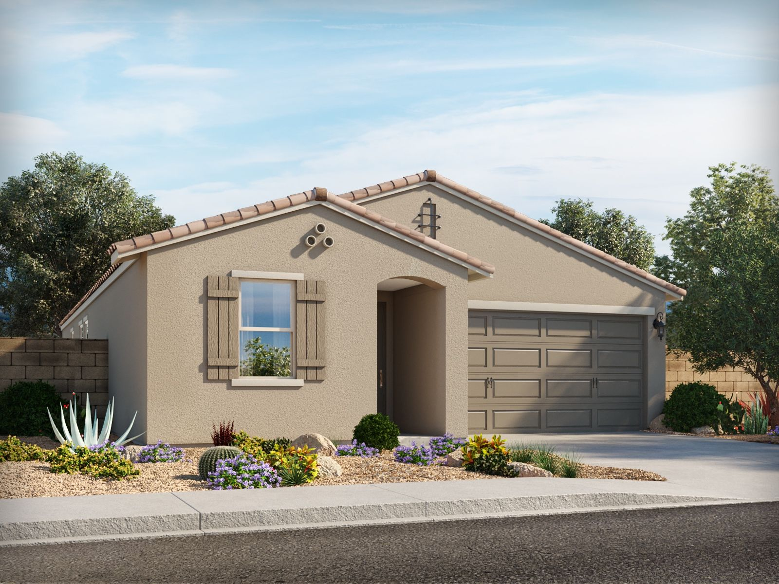 Exterior featured in the Jubilee By Meritage Homes in Phoenix-Mesa, AZ