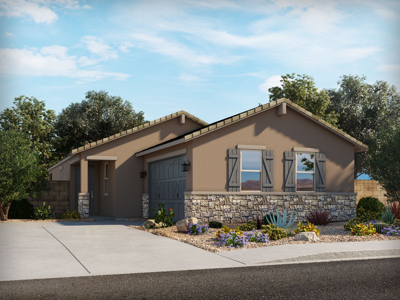 Exterior featured in the Juniper By Meritage Homes in Phoenix-Mesa, AZ