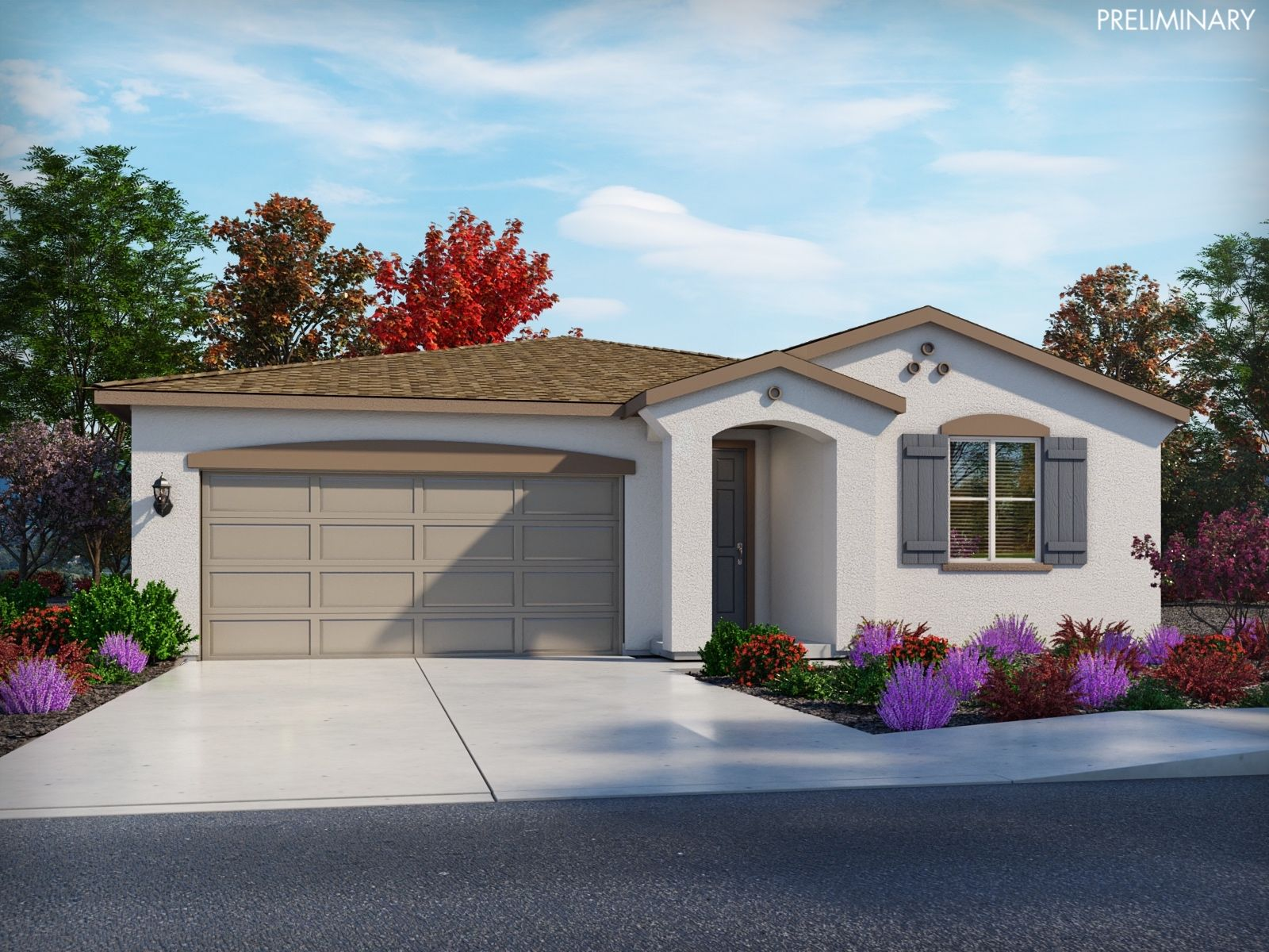 Exterior featured in the Residence 1 By Meritage Homes in Sacramento, CA