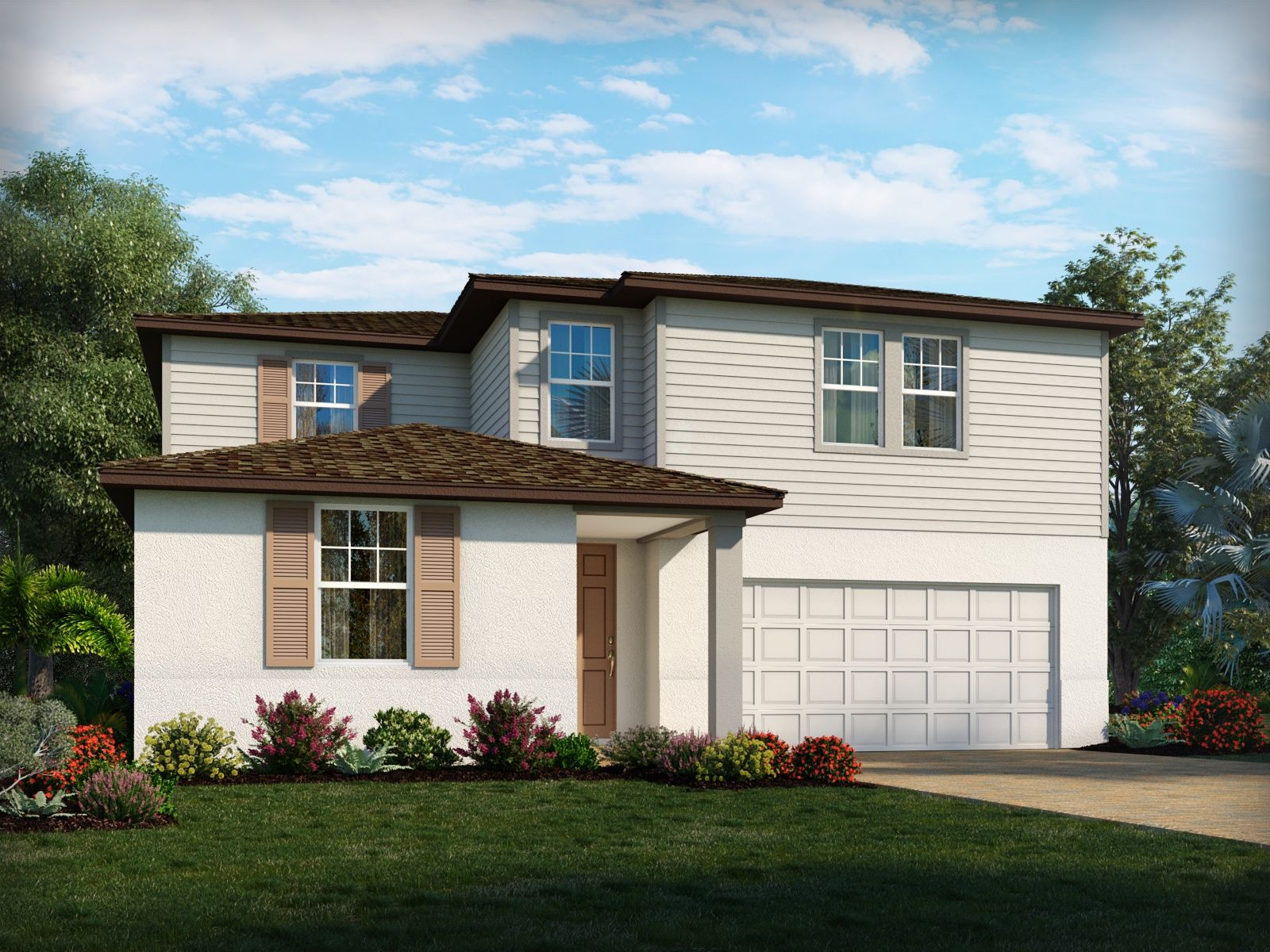 Exterior featured in the Primrose By Meritage Homes in Orlando, FL