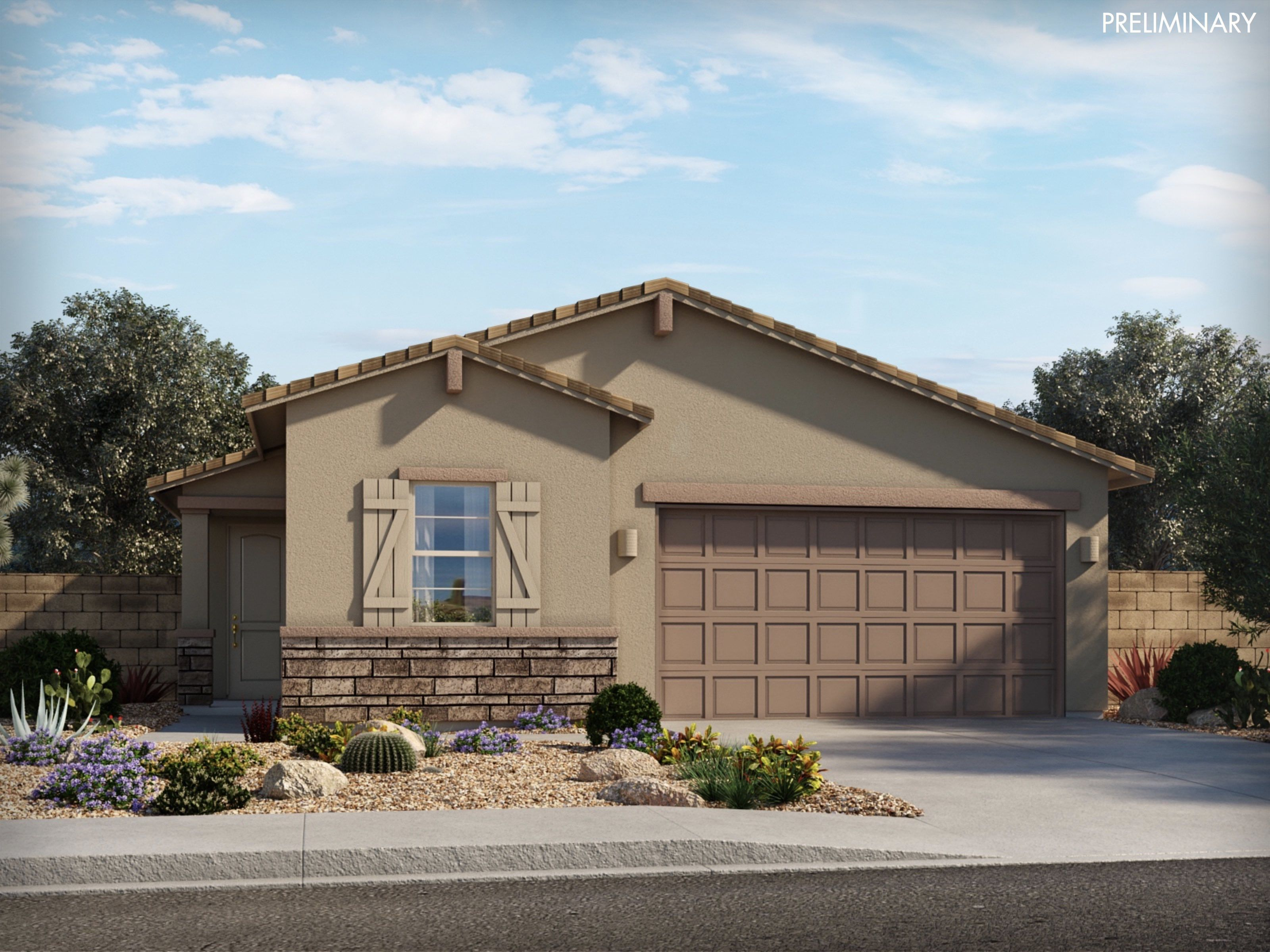 Exterior featured in the Granite By Meritage Homes in Tucson, AZ