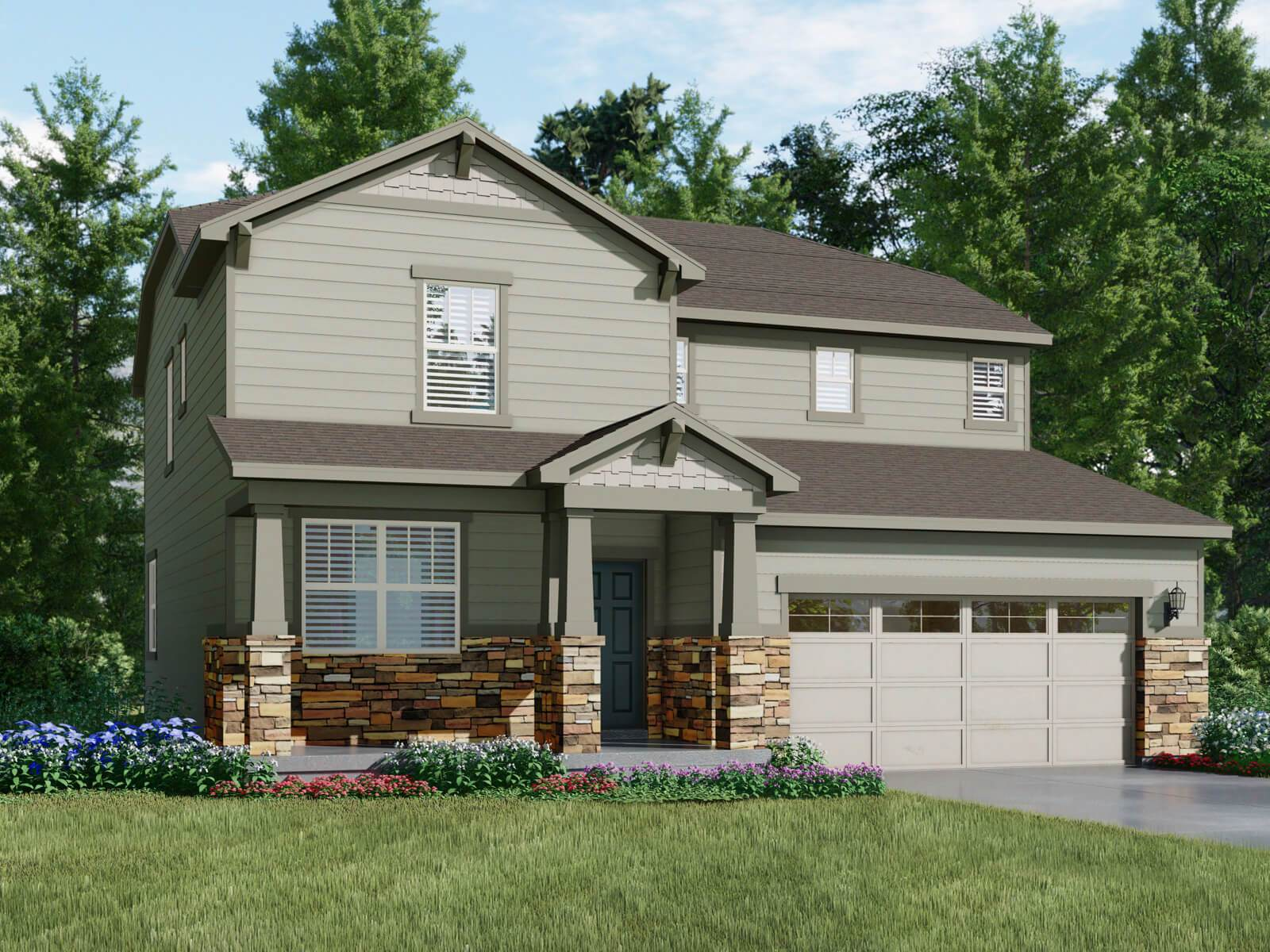 Exterior featured in The Castlewood By Meritage Homes in Denver, CO