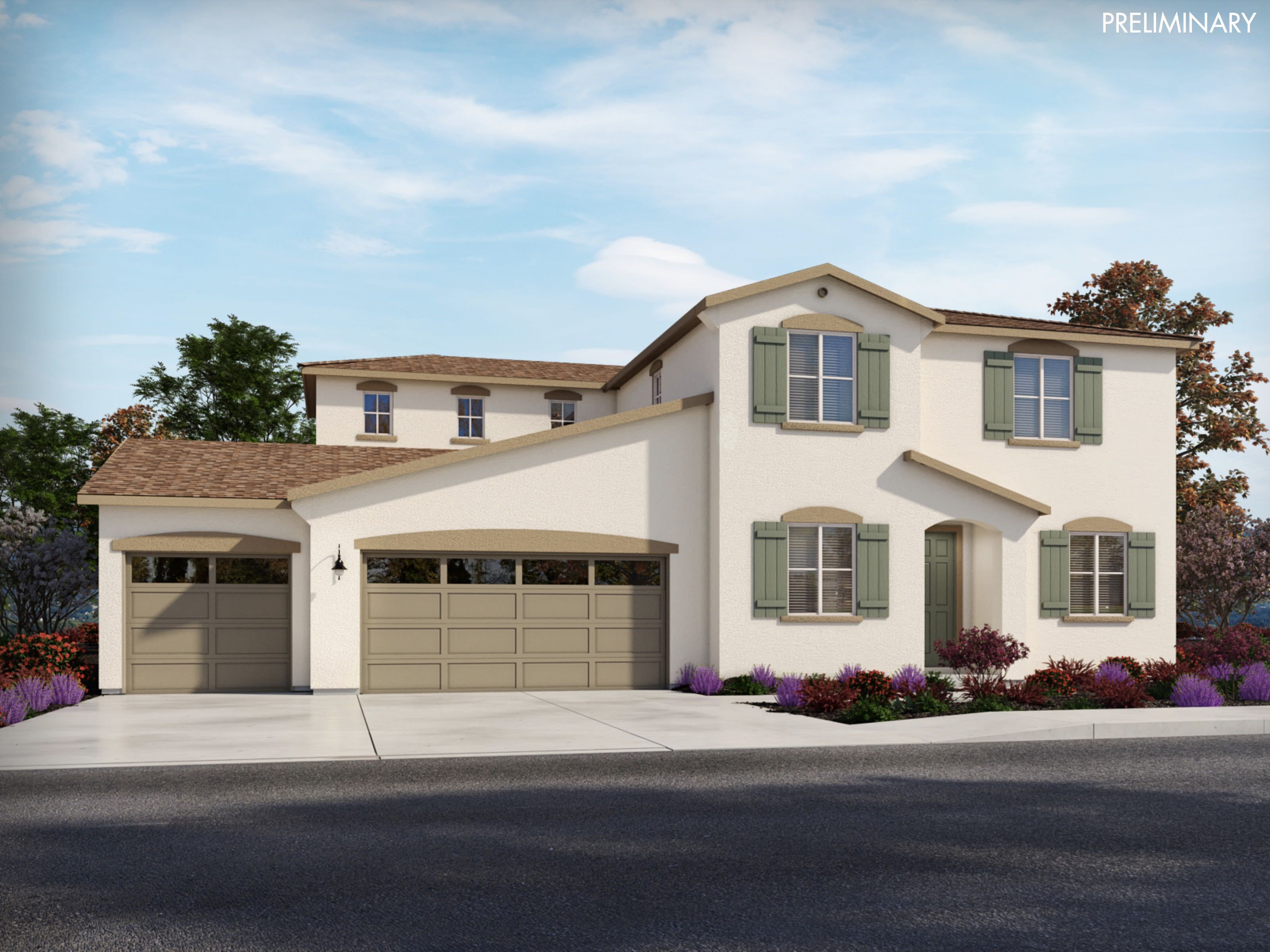 Exterior featured in the Residence 2 By Meritage Homes in Sacramento, CA