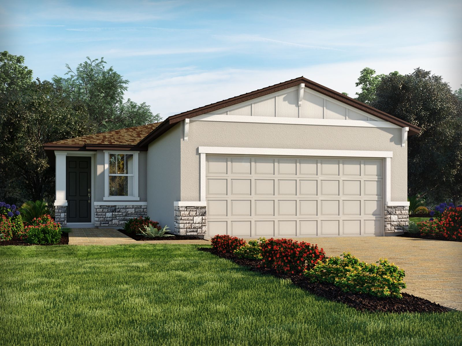 Exterior featured in the Denali By Meritage Homes in Orlando, FL