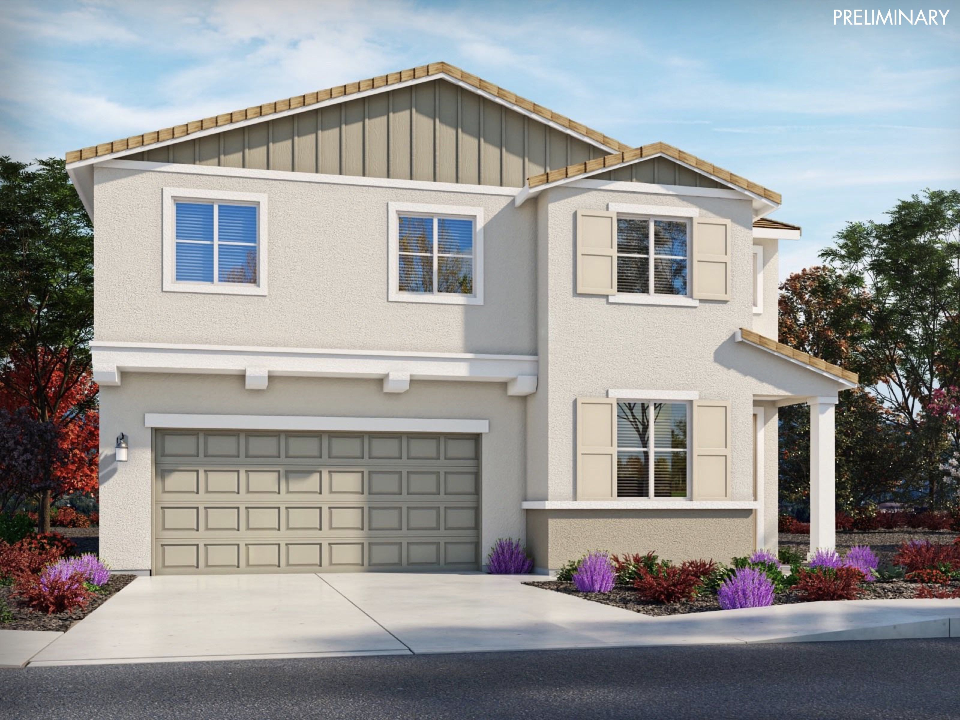 Exterior featured in the Residence 3 By Meritage Homes in San Diego, CA