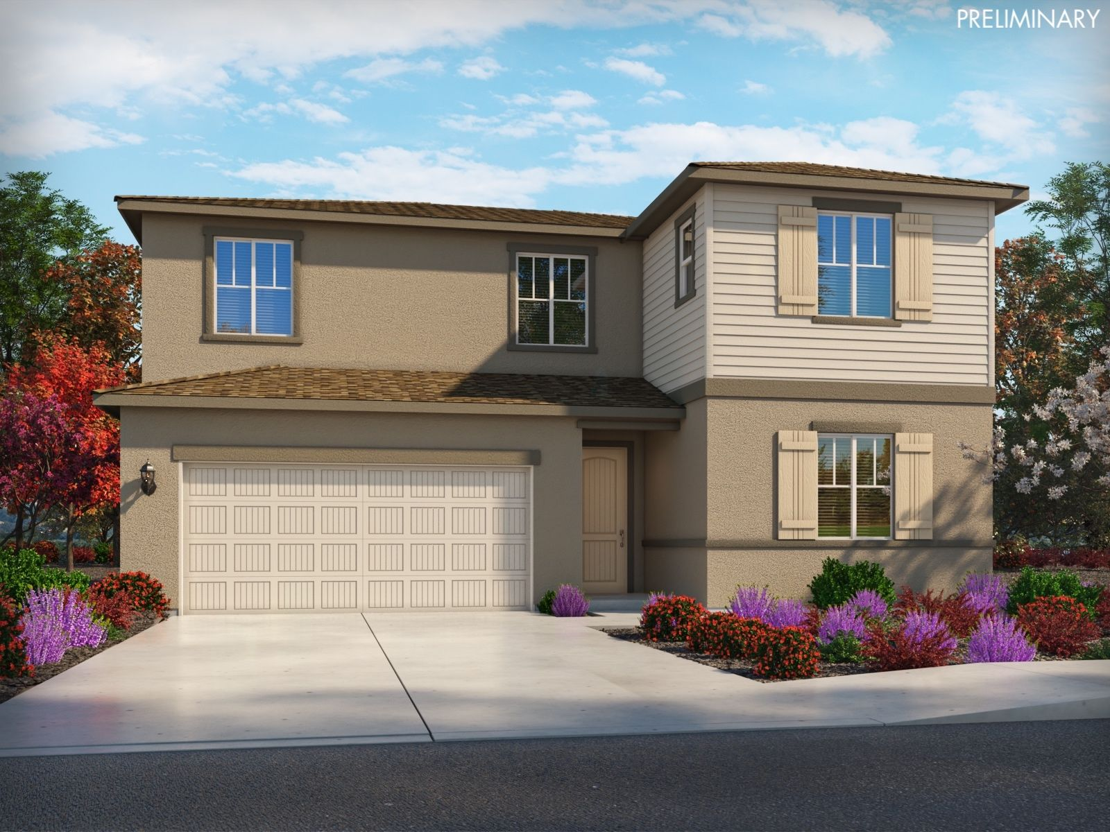 Exterior featured in the Residence 5 By Meritage Homes in Sacramento, CA