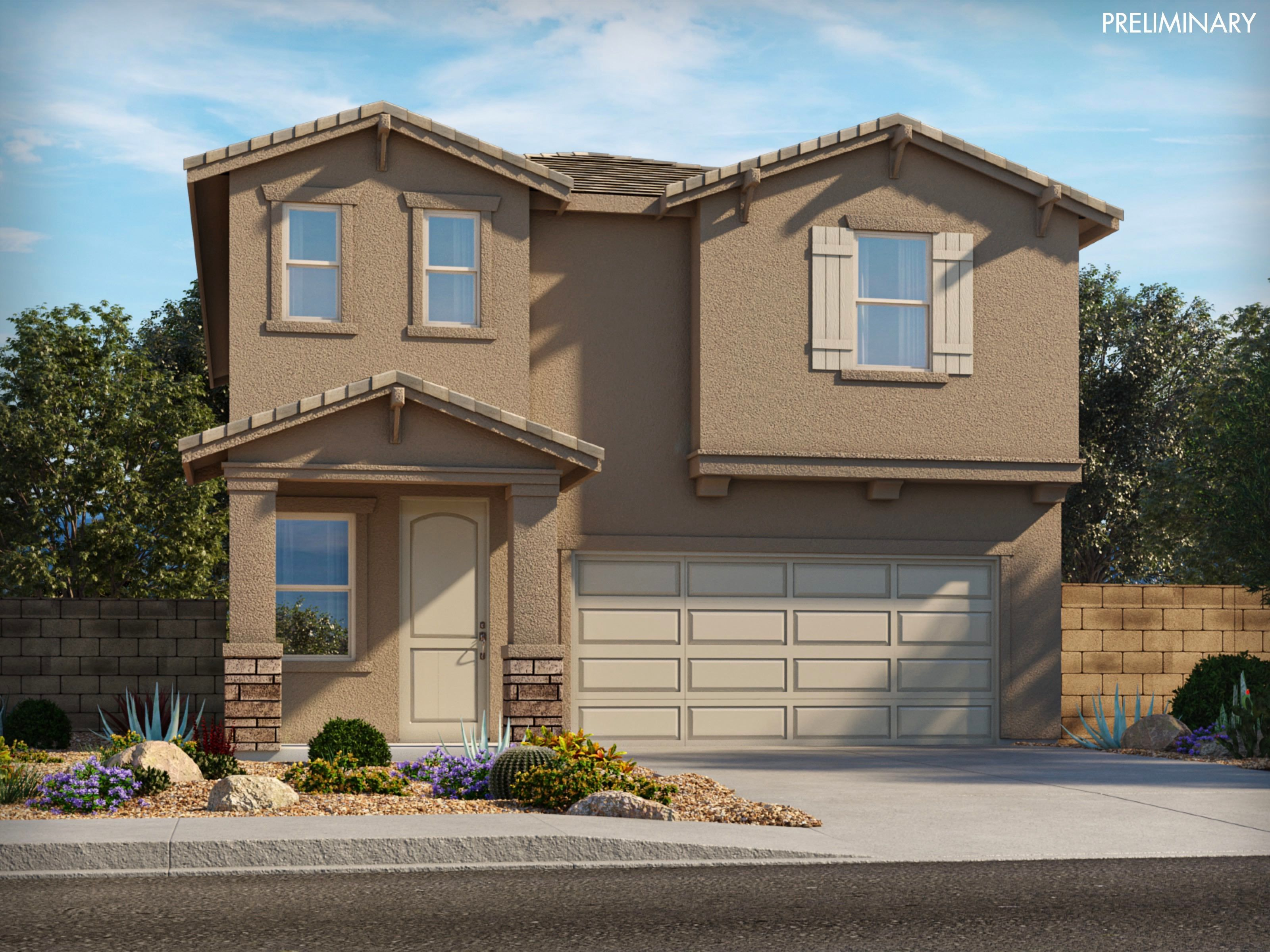 Exterior featured in the Everett By Meritage Homes in Tucson, AZ