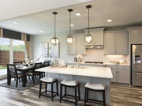 Kitchen-in-The Cedar-at-Terrace Oaks - Reserve Series-in-Corinth