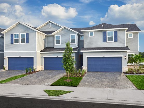 This gated community features beautiful two-story townhomes.