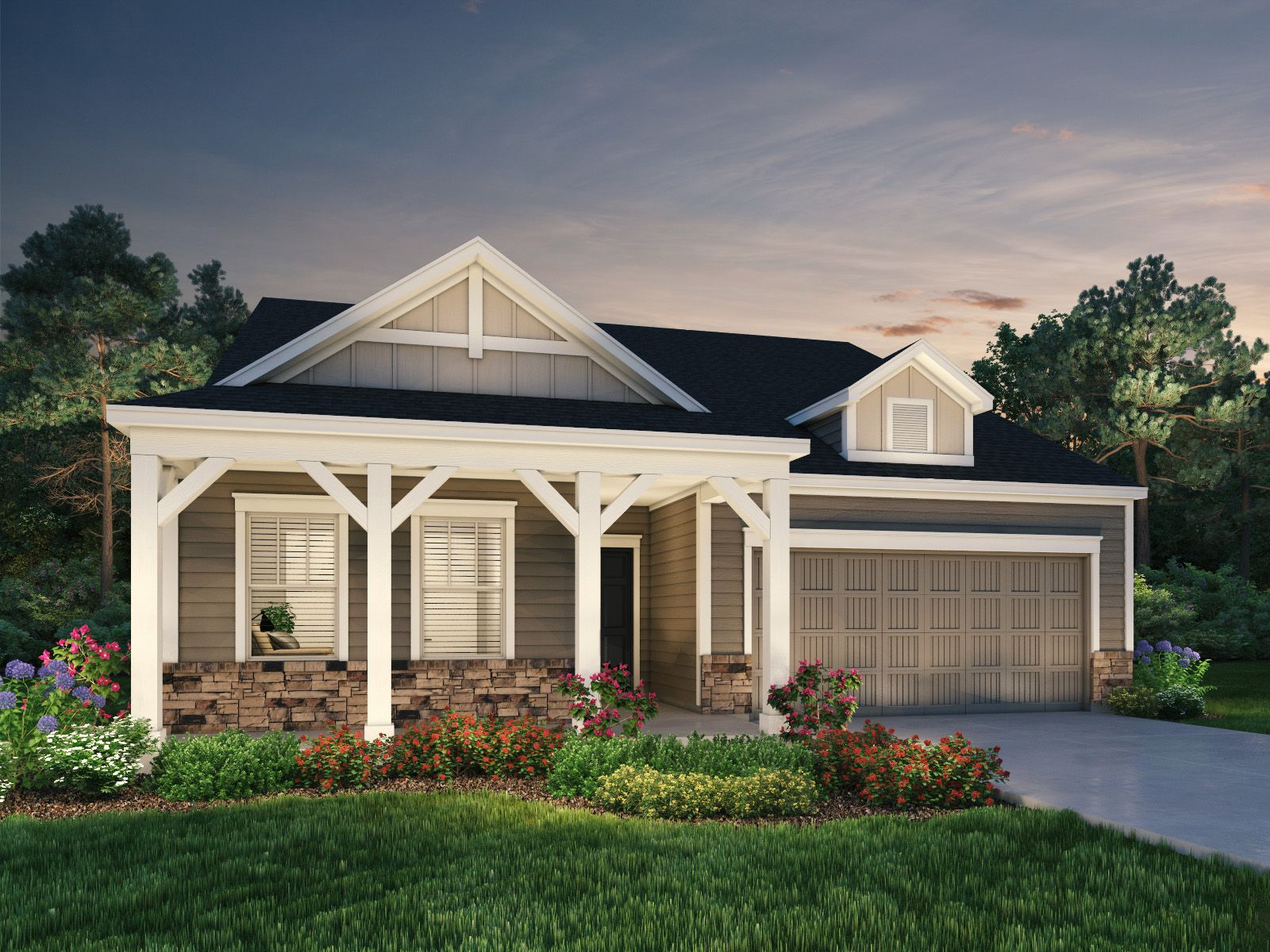 Exterior featured in the Grayson II By Meritage Homes in Raleigh-Durham-Chapel Hill, NC