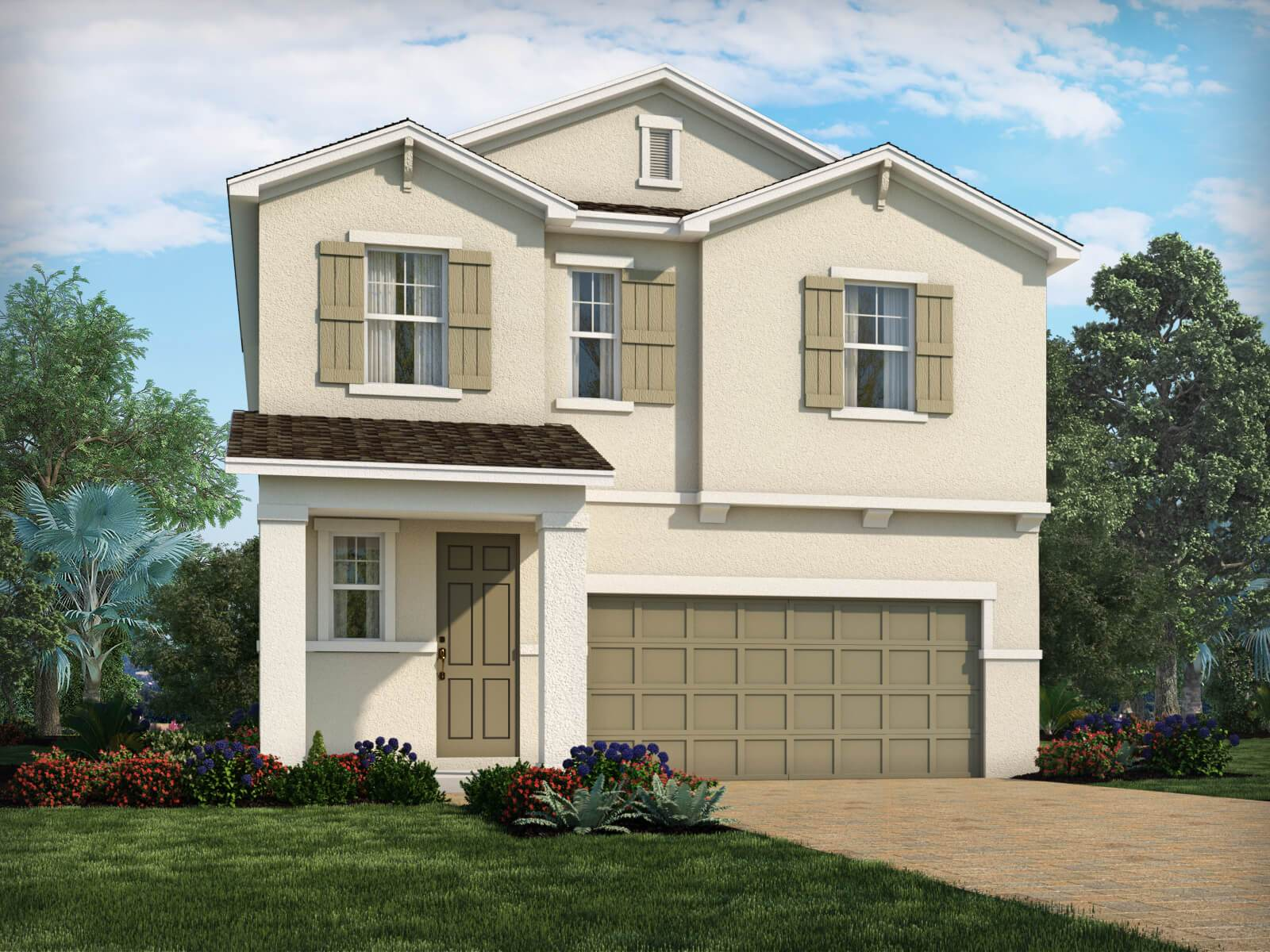 Exterior featured in the Juniper By Meritage Homes in Tampa-St. Petersburg, FL
