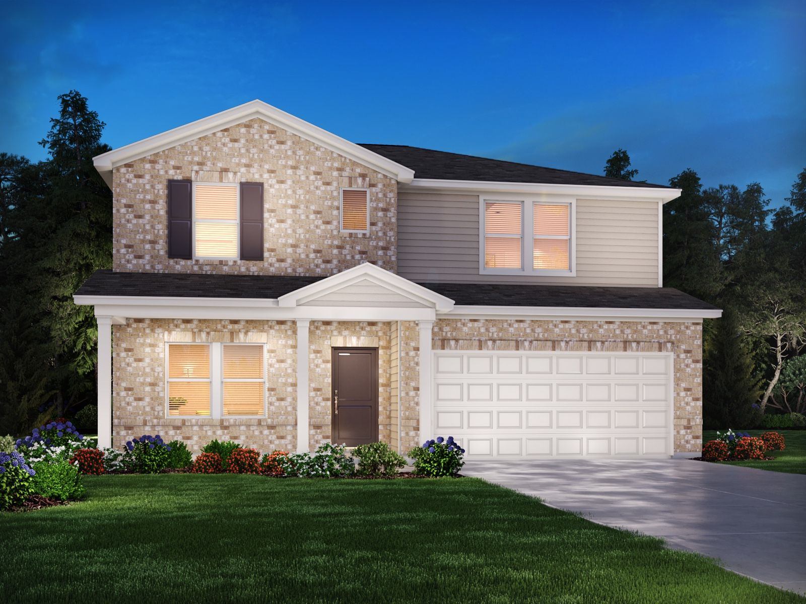 Exterior featured in the Sherwood By Meritage Homes in Nashville, TN