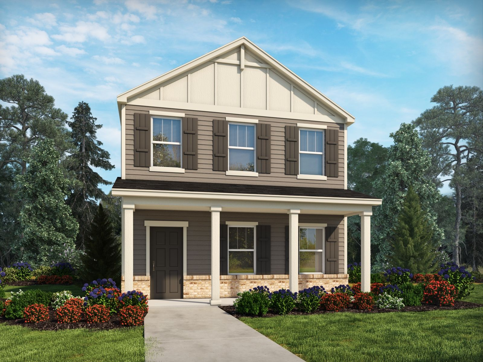 Exterior featured in the Calhoun II By Meritage Homes in Charlotte, NC