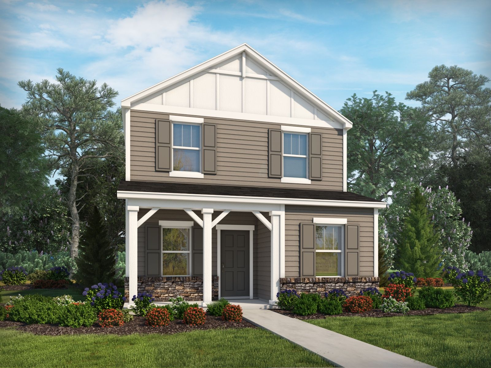 Exterior featured in the Rutledge II By Meritage Homes in Charlotte, NC