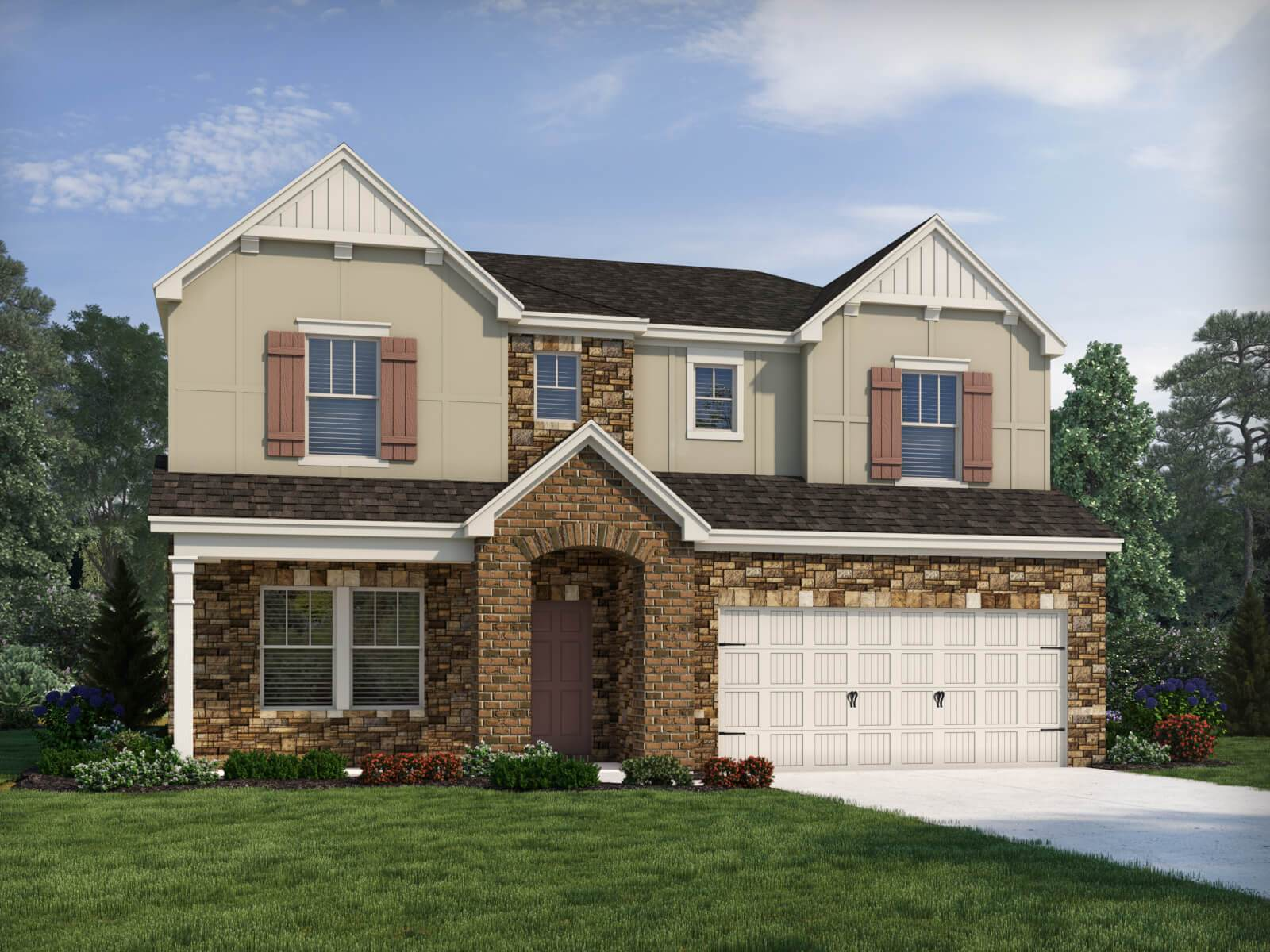 Exterior featured in the Savannah By Meritage Homes in Charlotte, NC